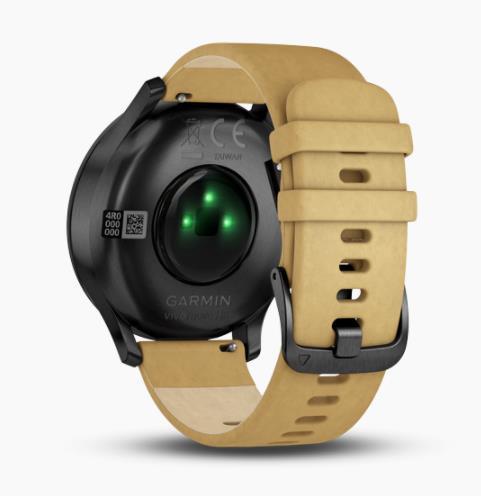 Garmin Vivomove HR Premium 皮革錶帶 智能手錶 [中/英文版]