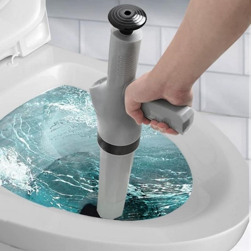 現貨下水道疏通神器馬桶通渠器白色家用通廁所吸毛發清理管道堵塞壹炮通下水道通渠器