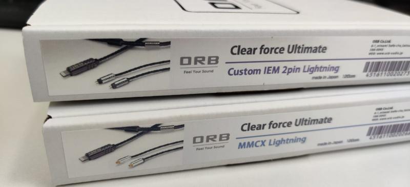 【香港行貨】iPhone / iPad 用家究極之選 - ORB Clear Force Ultimate lightning 直出 to MMCX /2PIN