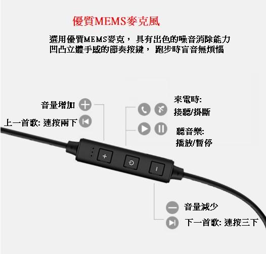 AOE - 藍牙耳機XT21雙動圈四核運動防汗水重低音迷你立體聲HIFI無線耳機