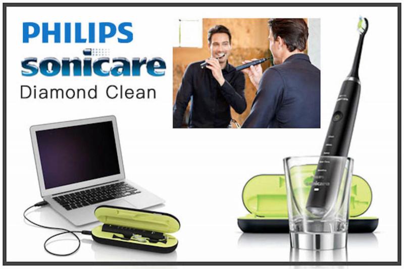 Philips 聲波震動牙刷連牙縫清潔機 HX8491 (黑色) (HX9351 + HX8460)