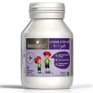Bioisland 增長黃金素賴氨酸助長 咀嚼片 60粒