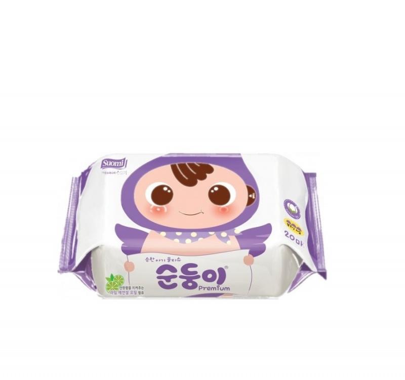 順順兒 - 高級壓花嬰兒濕紙巾20片