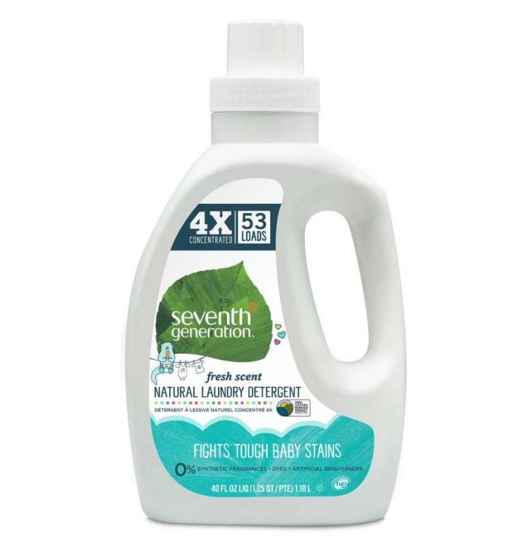 Seventh Generation 代代淨- 四倍超濃縮天然嬰兒洗衣液1.18L