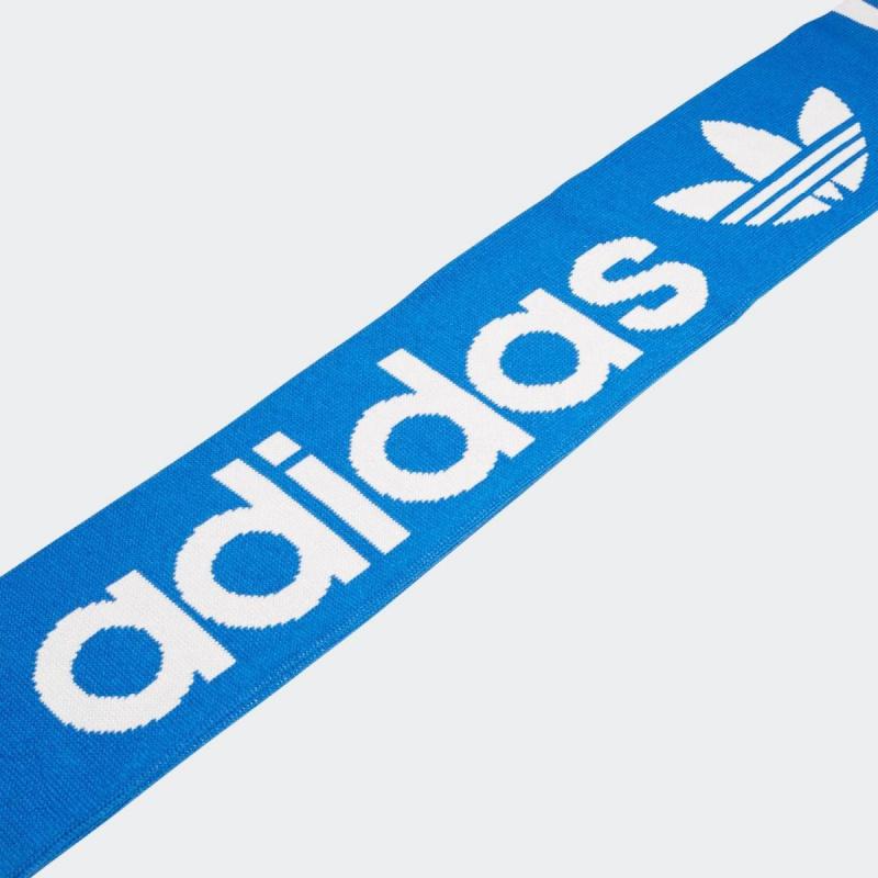 日本adidas Logo圍巾/頸巾 [藍白色]