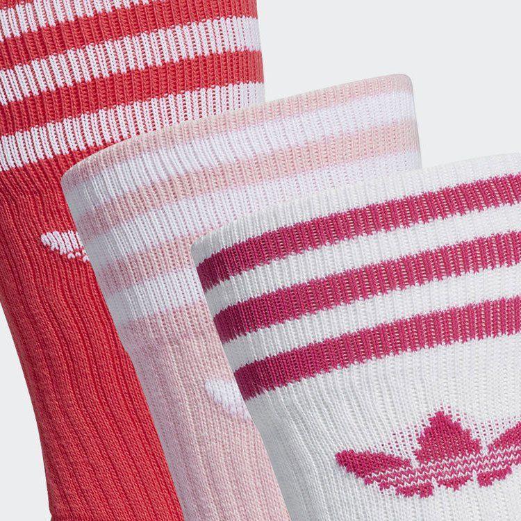 日本Adidas Originals 中長度襪 - 三對(白/粉/桃紅) [2碼]