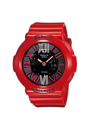 Casio Baby-G 霓虹燈撥號系列 - 紅色 x 黑色 - # BGA-160-4B