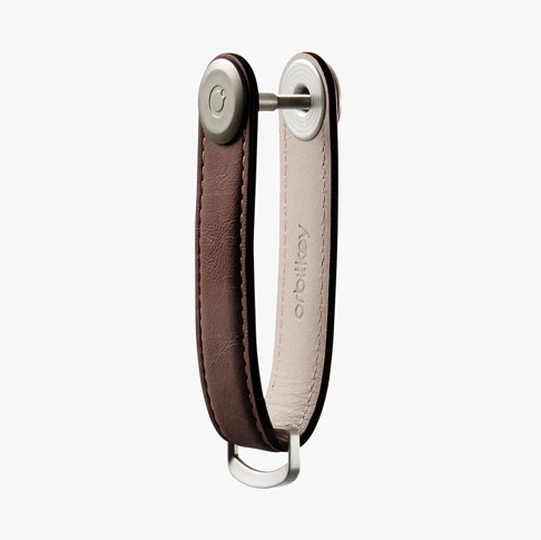 ORBITKEY-極簡行動鑰匙圈2.0 真皮銀扣