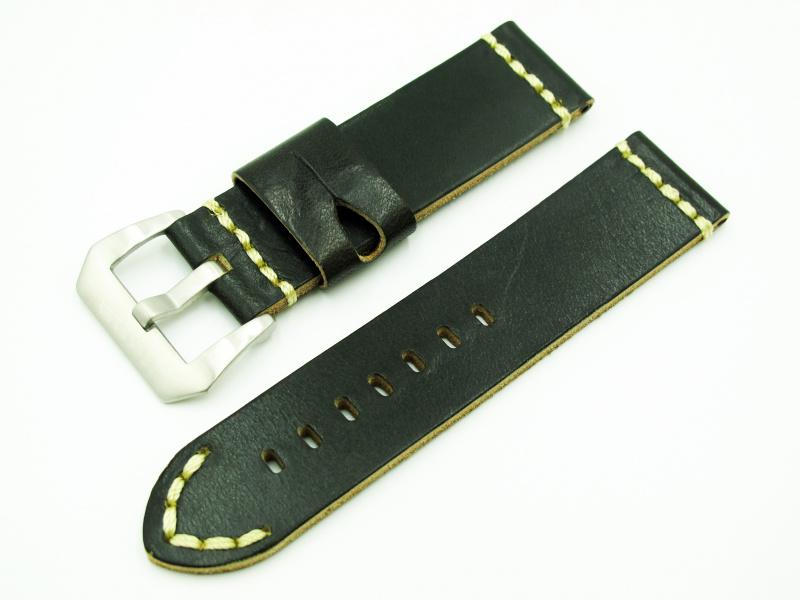 24mm Panerai 懷舊綠色牛皮錶帶配針扣