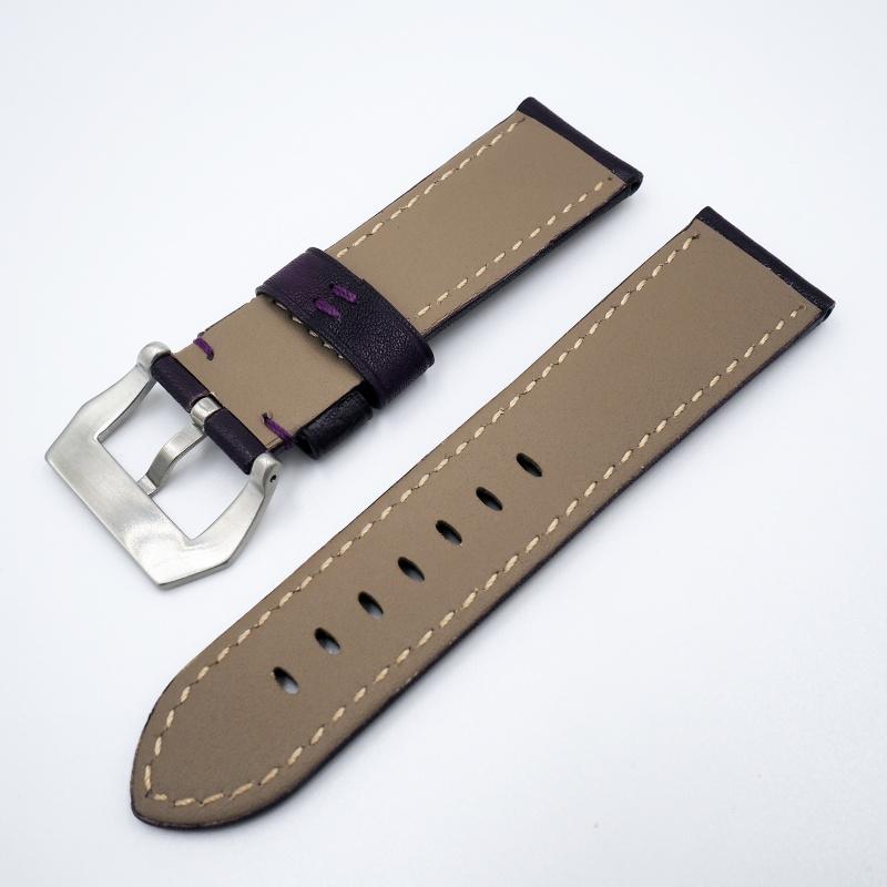 24mm Panerai 紫色牛皮錶帶配針扣
