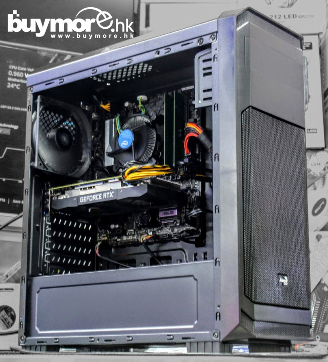 未來科技 Intel i5-9400F / Kingston 8G DDR4 / HP 256G NVMe SSD / RTX2060 電競電腦組合