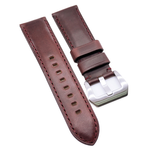 20mm, 22mm, 24mm 紅褐色高級 Horween 牛皮錶帶