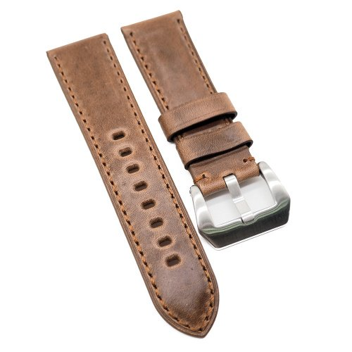 20mm, 22mm, 24mm 棕色高級 Horween 牛皮錶帶