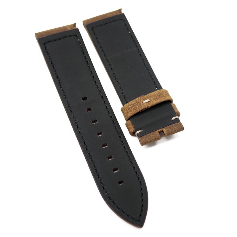 23mm Zenith Style 啡色牛皮代用錶帶