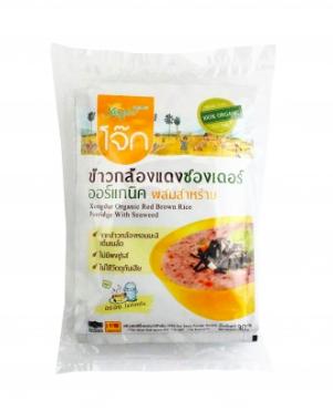 泰國 XONGDUR- 有機糙紅米紫菜粥 (3pcs/ 3包裝)30Gx3