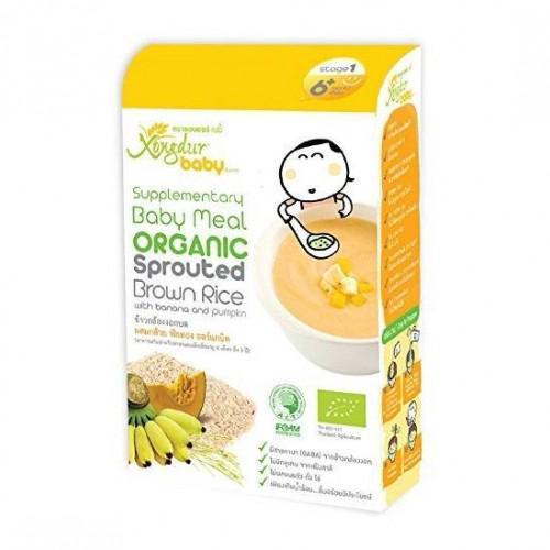 Xongdur Baby - 有機胚芽糙米糊**香蕉及南瓜 (第1階段) 20Gx6