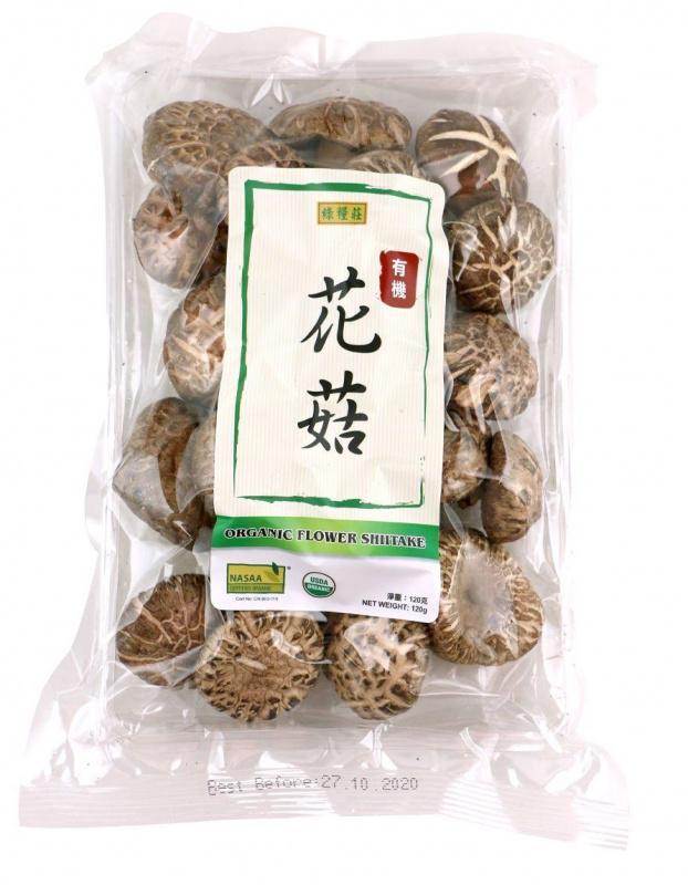 綠糧莊-有機花菇(大) 120G