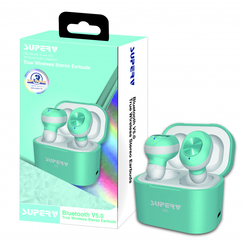 SuperV bluetooth earbuds i38