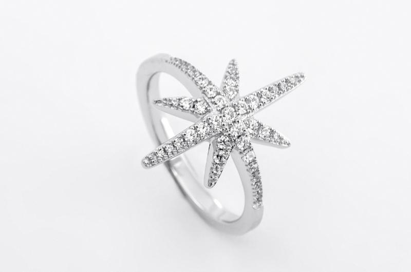 APM Monaco 純銀鑲晶鑽戒指 (A15734OX-050)