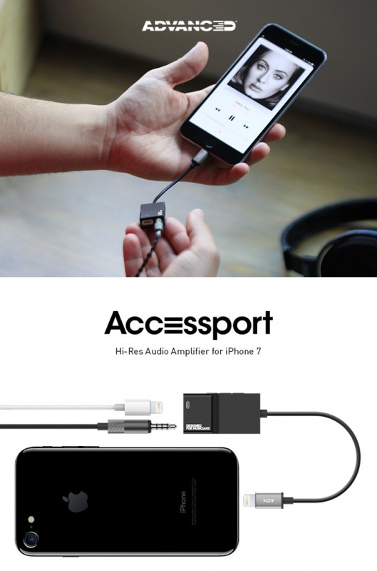 AAW Amplifier / DAC Hi-Res Accessport Audio & Charge Adaptor for iPhone