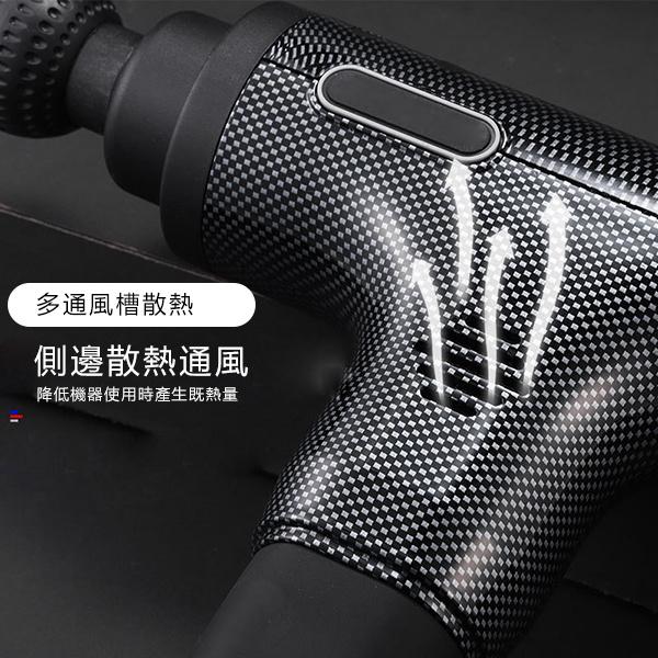 TSK - 日本-無線充電款LCD液晶觸控屏6檔按摩槍(5種按摩手法+6個按摩頭)