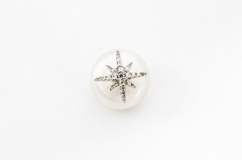 APM Monaco 純銀珍珠八角星耳環 (AE9108XPL)