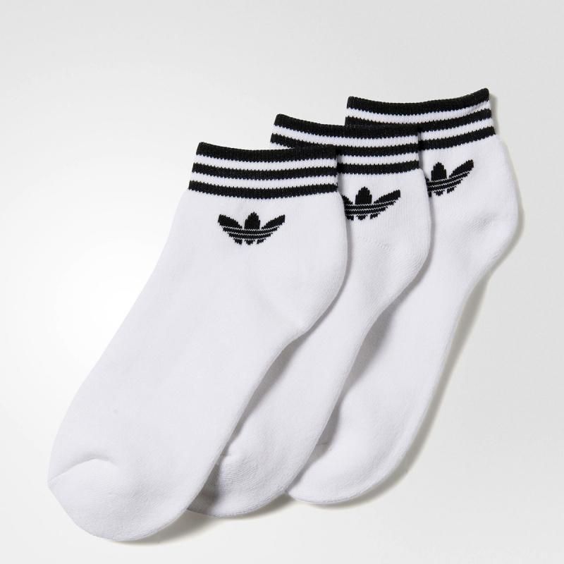 日本Adidas Originals TREFOIL 襪 (3對) [白色]