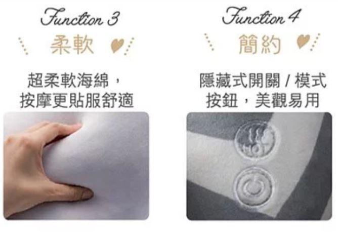 Lourdes Hot Neck Massage Pillow頸部按摩抱枕 [2色] AX-HXL191