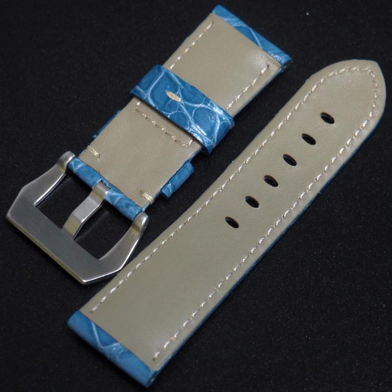 24mm Panerai Style 天空藍鱷魚皮錶帶 (女性尺寸)