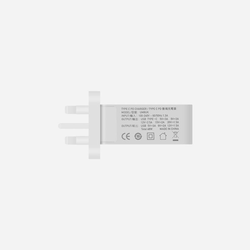 Momax One Plug雙插口智能快速充電器UM8