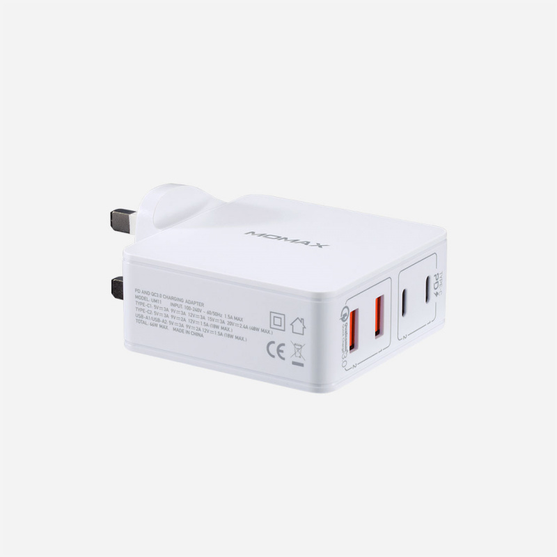 Momax One Plug 66W 雙PD 4插口快速充電器 (Type-C PD x 2 + QC 3.0 USB x 2) UM11