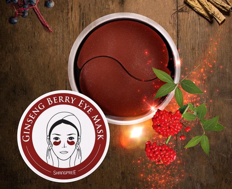 韓國 Shangpree Ginseng Berry Eye Mask 香蒲麗 紅公主紅參果眼膜 60pcs