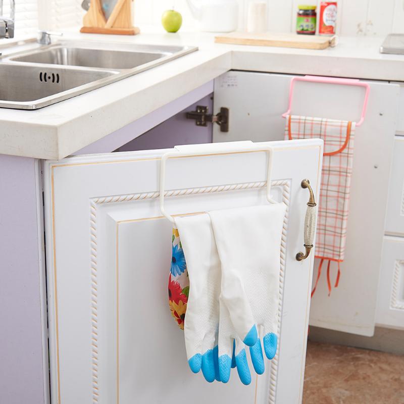3X 廚房抹布架掛圍裙毛巾手套瀝水架 免打孔 免貼牆 (米白色)3個套裝 -廚房神器