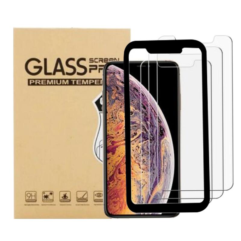 AOE - Apple iPhone 11 保護貼3 片裝連貼膜器Glass Pro+ 鋼化玻璃手機螢幕保護貼
