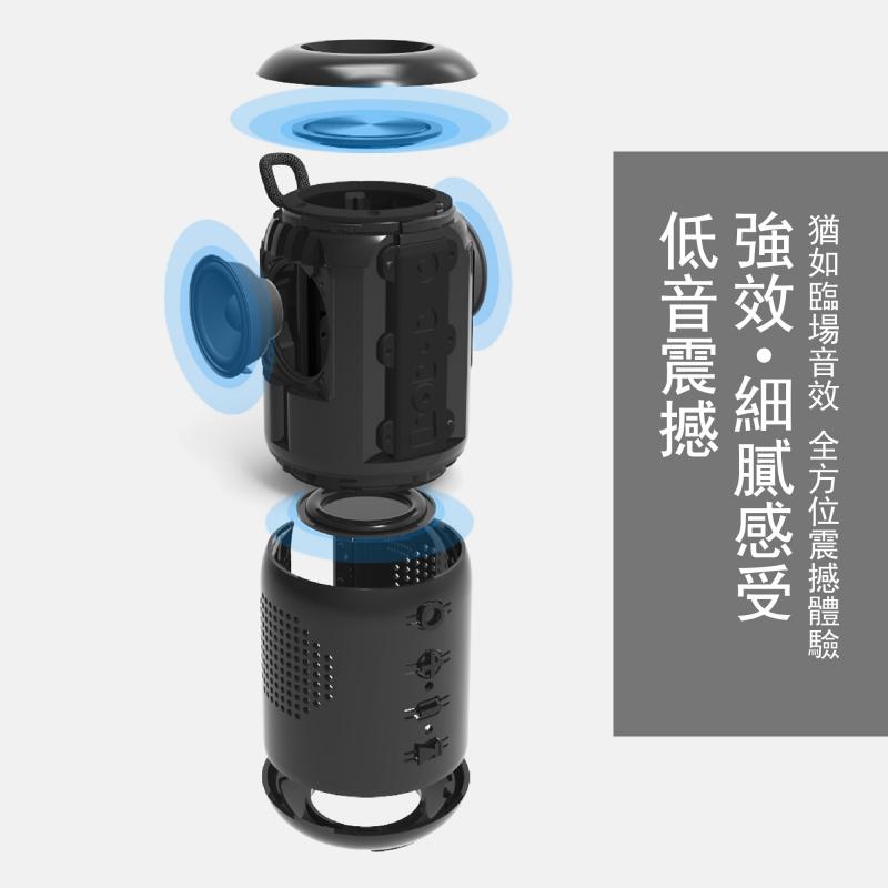 M7無線防水藍牙喇叭│雙喇叭配對 (TWS)│單車便攜式無線喇叭 【2色】