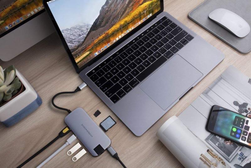 【香港行貨】Hyper HD247B-silver 8-in-1 Drive Slim Hub for MacBook And USB-C Devices [2色]