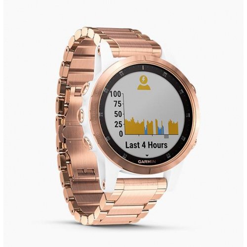 GARMIN Fenix 5S Plus 藍寶石玻璃 GPS 智能運動錶 (雙錶帶套裝) [英文版]