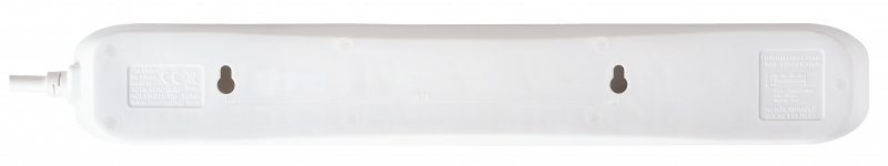 Masterplug 6位X13A 2米拖板 白色 BSG2N Simple 6 Socket Extension Leads White