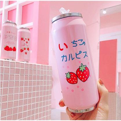 日系士多啤梨不鏽鋼保溫水杯 [500mL] [2款]