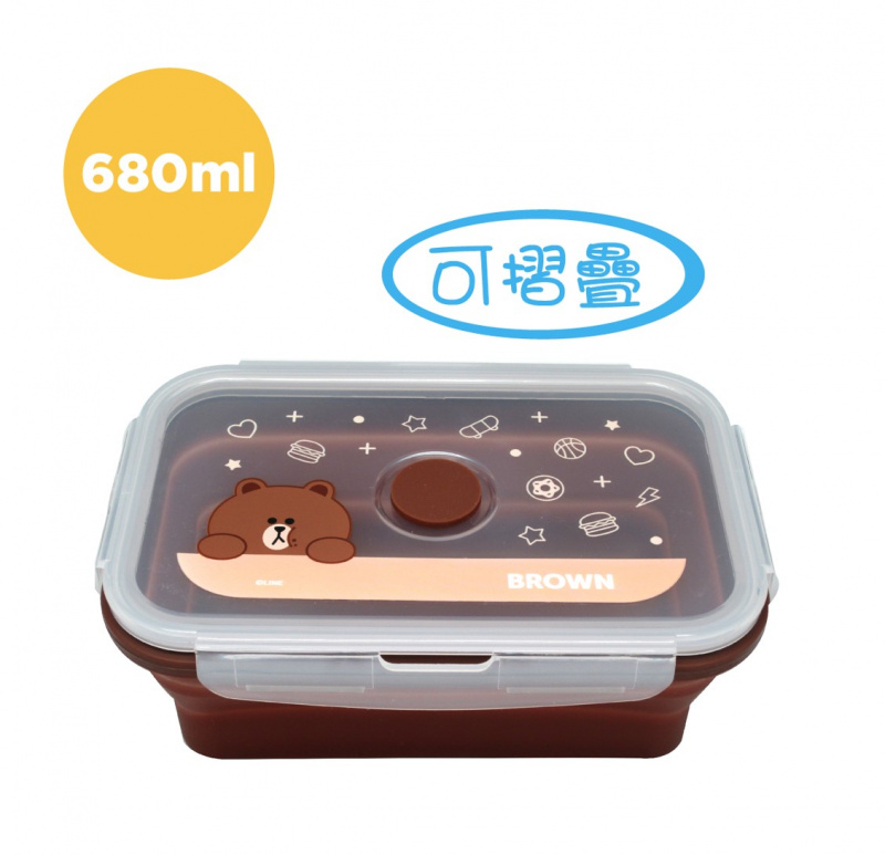 Line Friends矽膠餐盒