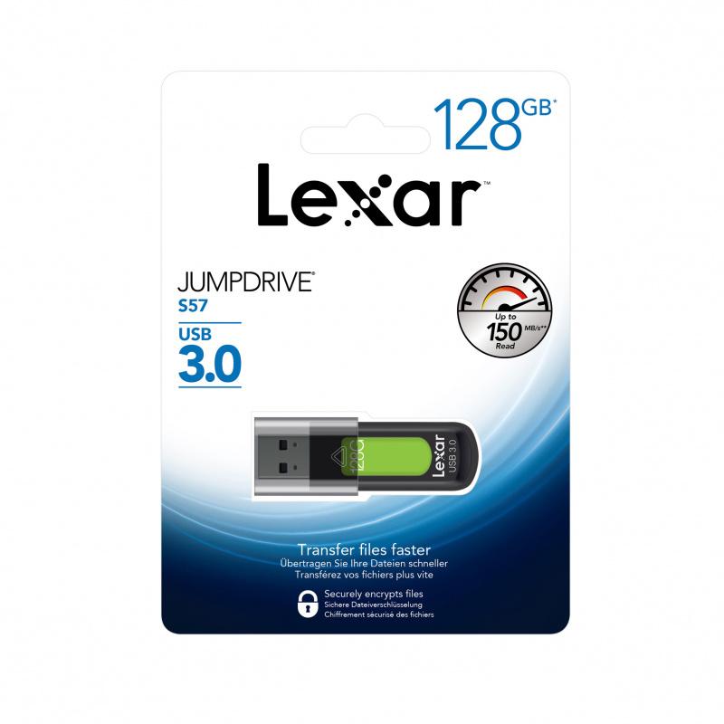 Lexar JumpDrive S57 【128GB】USB 3.0 隨身碟