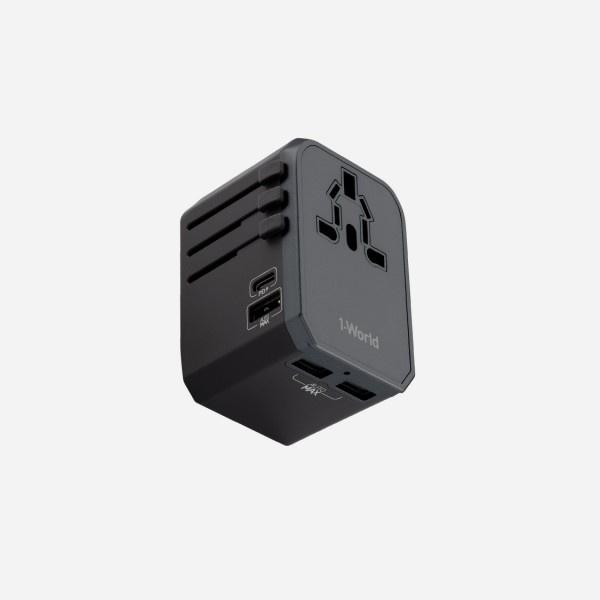 MOMAX 1-World 旅行插座 (Type-C PD 30W + 3 USB) UA7