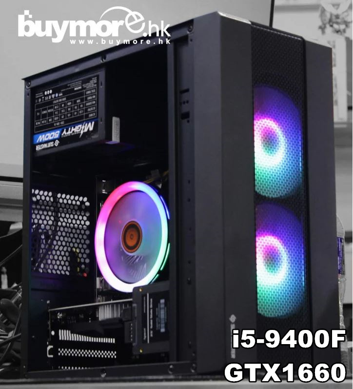 未來科技 Intel Core i5-9400F/GTX1660 RGB機箱電腦組合