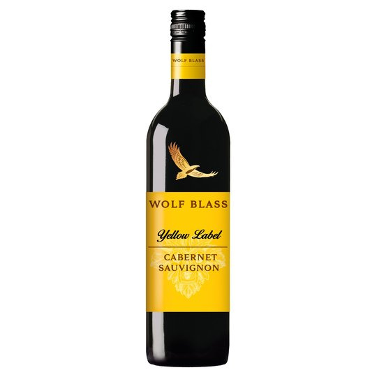Wolf Blass Yellow Label Cabernet Sauvignon 2017 750ml Screw Cap 禾富黃牌赤霞珠紅酒750ml