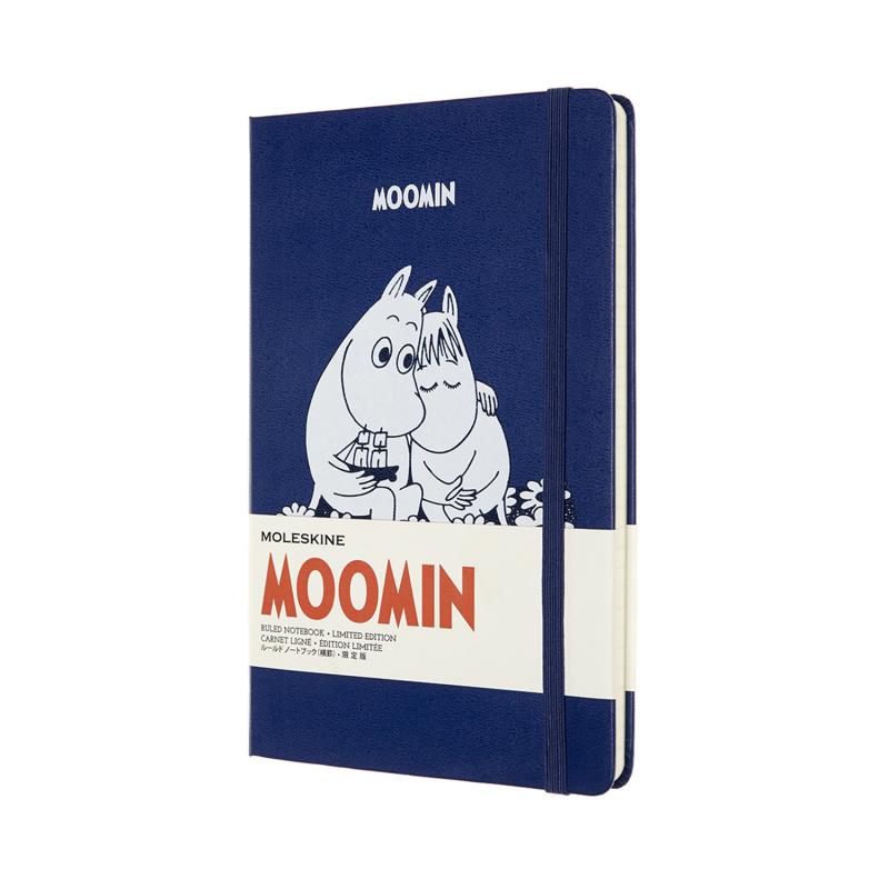 Moleskine 姆明家族Moonmin 限量版 L型横間記事本13 x 21 CM [兩款]