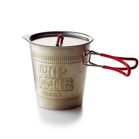 日本限量版 日清杯麵造型Outdoor鈦合金煮食鋼杯 (附網狀收納袋)