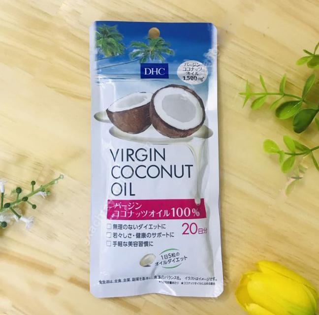 日本DHC 瘦身排毒椰子油精華丸(20日份量)