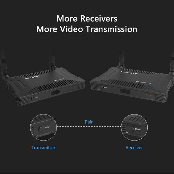 【香港行貨】WAVLINK 300m Wireless HDMI Transmitter and Receiver PROAV WH1000