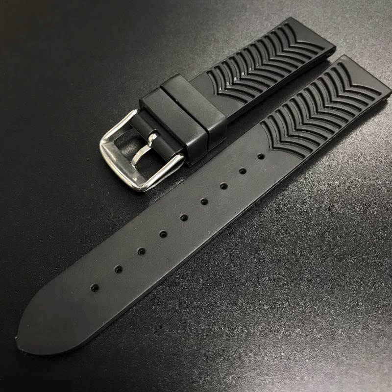 20mm Tudor黑色橡膠錶帶