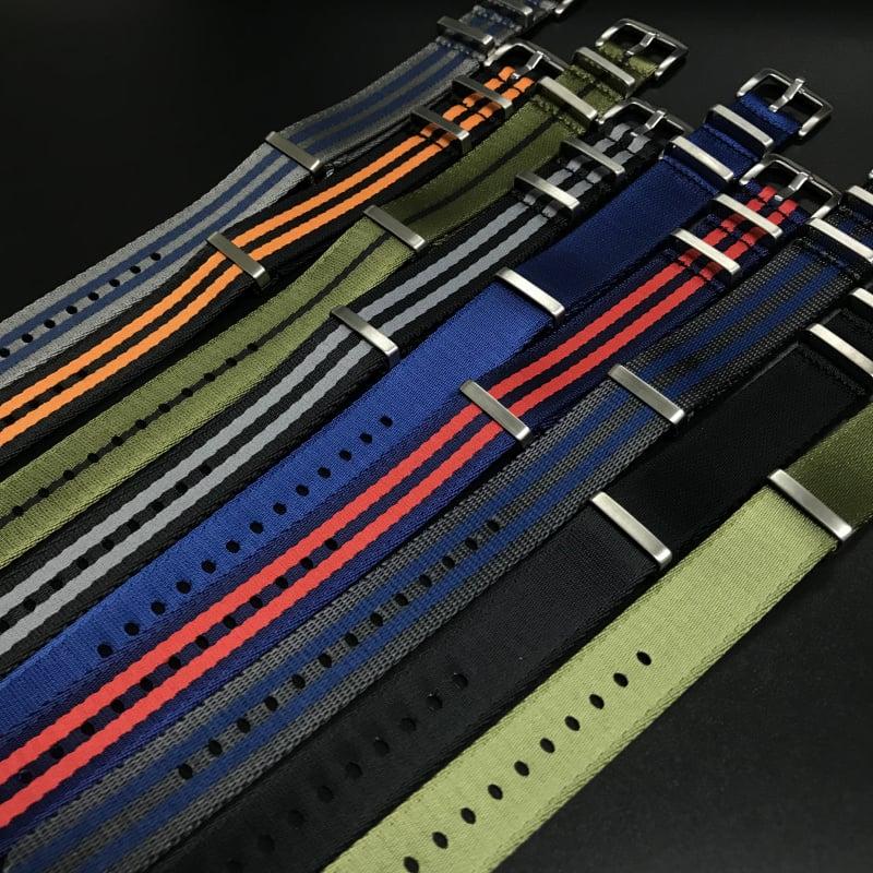 20mm 藍/紅色Nato Style高質尼龍錶帶 適合Rolex Omega, IWC ,Tudor